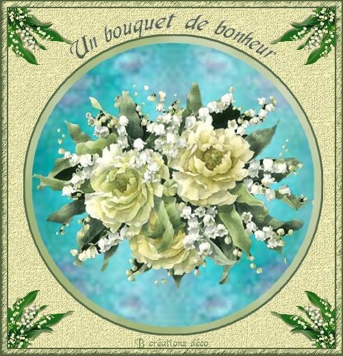 roses blanches et muguet