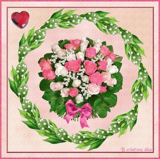 1er mai -  roses et muguet