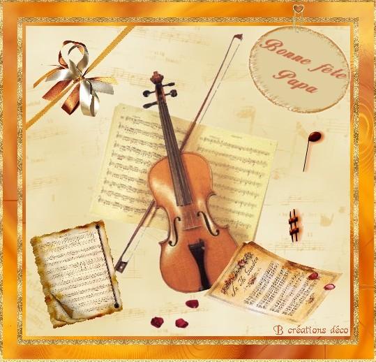 fête des pères - violon