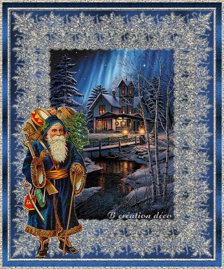 Père Noël - bleu