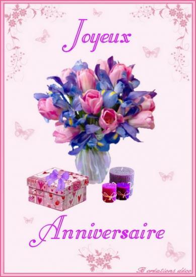 Anniversaire - bouquet
