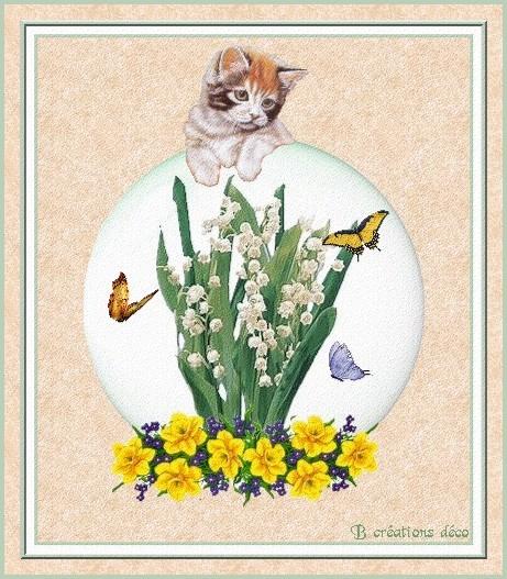 1er mai - chat et muguet