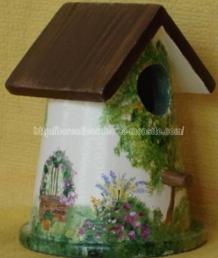 nichoir - jardin - peinture
