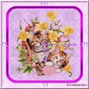 horloge - chaton