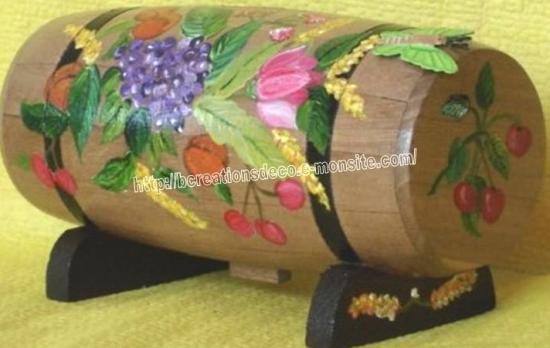 D cors fruits l gumes - Peindre un tonneau en bois ...