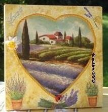 cadre tableau Paysage de Provence lavande