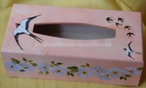 boite à mouchoirs - peinture - hirondelle