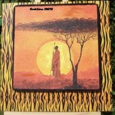 Afrique coucher du soleil