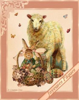 pâques - lapin - mouton