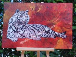 tigre blanc - peinture