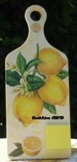 tableau mémo citron jaune