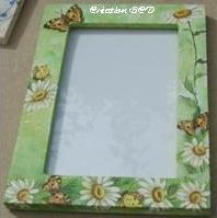 cadre vitré fleurs printemps marguerite pâquerette