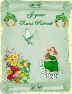 fête - St Patrick - parchemin