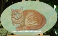 peinture chat roux