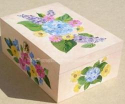 coffret - peinture - fleurs