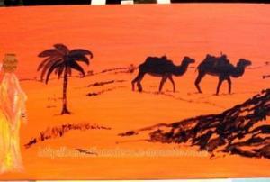 peinture - Afrique du Nord - chameau