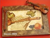tableau musique violon
