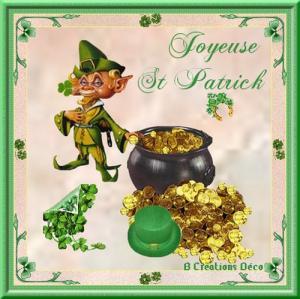 Saint Patrick - leprechaun - chaudron