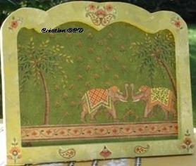 tableau éléphant asie Inde