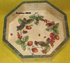 Plat couronne de fraises