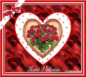 Saint Valentin - roses rouges -