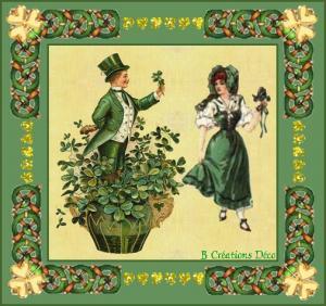 Saint Patrick - Eire - couple - trèfle