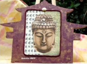 tableau Asie Boudha temple