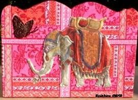 asie éléphant cachemire tableau