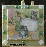 tableau chat chaton mosaïque