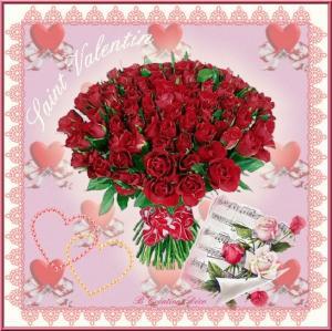 Saint Valentin - bouquet de roses