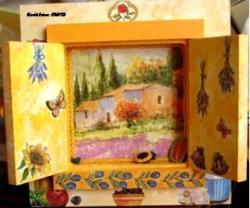 tableau cadre fenêtre Provence olive