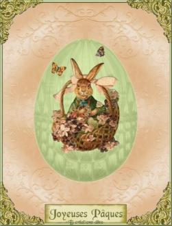 pâques - oeuf - lapin