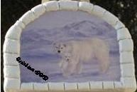 tableau igloo ours polaire ours blanc