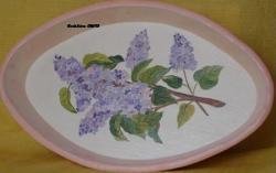 plat oval en bois lila