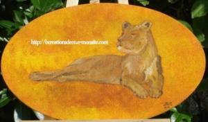peinture lionne