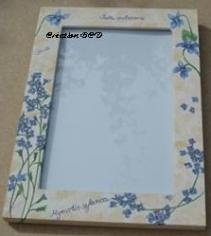 cadre vitré myosotis fleur bleue