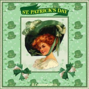 Saint Patrick - femme - trèfle