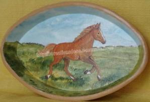 peinture - plat - cheval
