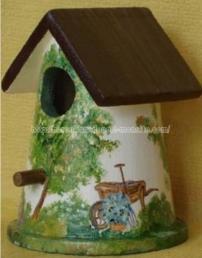 nichoir- jardin - peinture