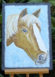 Ardoise cheval peint 2