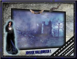 Halloween - dame en noir