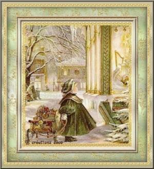 fillette-vitrine de Noël