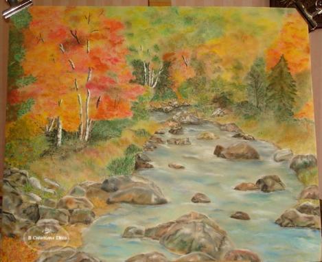 Paysage d automne pastel