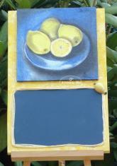 Tableau ardoise citrons