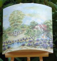 Tableau paysage de provence lavande
