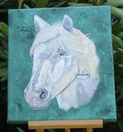 Tableau toile cheval blanc